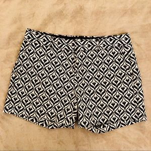 Banana Republic black and white ikat print shorts